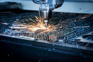 table de découpe laser, préparation à l'usinage industriel